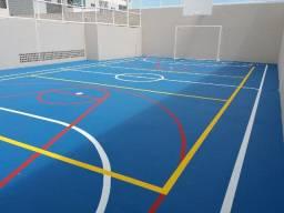 Reforma e pintura de quadras poliesportiva
