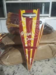 230 embalagens para pizza cone R$150