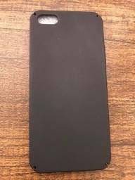 Capa nova preta TPU rígido - iPhone 5/5s/SE