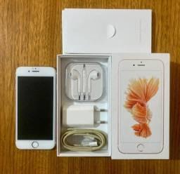 Iphone 6S 16gb Rose + capinhas + fone, carregador e fio originais