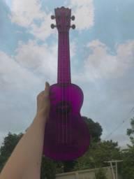 Ukulele Ghost Roxo/Violeta Transparente Akahai Soprano + Capa