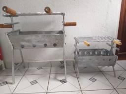 Churrasqueira alumínio batido
