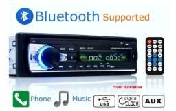 Auto Rádio de carro com bluetooth, pen driver e controle(novo)