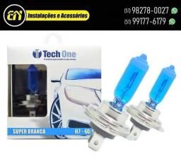 Par Lâmpadas Super Branca Tech One Efeito Xenon 8500k (Instalado)