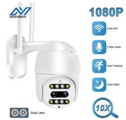 Título do anúncio: Câmera Segura IP Wifi Zoom Ótico de 10X Full HD Prova D?água