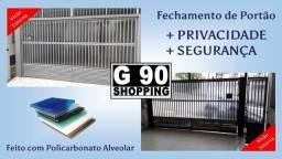 Título do anúncio: Fechamento de Portão Com Policarbonato Alveolar - Mais Privacidade e Segurança