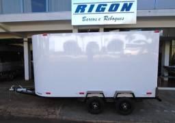 Reboque trailer fechado para transporte de diversos tipos de carga - NOVO