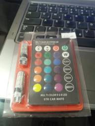 Led pingao 10 cores com controle novo na embalagem