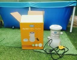 Bomba e filtro para piscina desmontável
