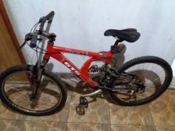 Bicicleta Semi-Nova Vermelha Gts S3 Full Suspension