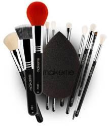 Kit completo black edition - pincéis de maquiagem