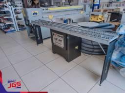 Coladeira de bordas CBC-MR c/ mesa de roletes Maksiwa