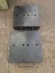 Patinhas para transporte de máquina pesada