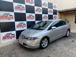 Honda Civic 2008 1.8 (Aut) + Completo da Categoria Emplacado 2020 + Tanque cheio