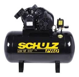 Compressor De Ar 10 Pes 100 Litros 220 Mono Csv10/100 Schulz<br><br>- (Novo/Loja)
