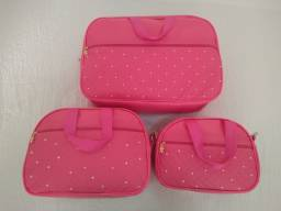 Kit bolsa maternidade rosa