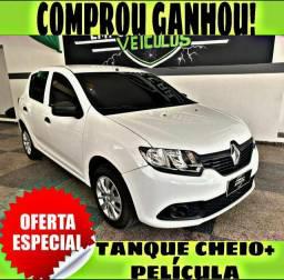 TANQUE CHEIO SO NA EMPORIUM CAR!!! RENAULT SANDERO 1.0 ANO 2018 COM MIL DE ENTRADA