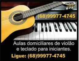 Aulas de violão e teclado domiciliar