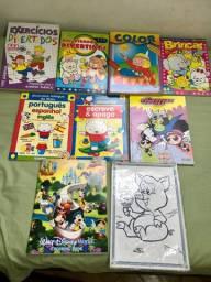 Cadernos e livros de colorir e de atividades e passatempos