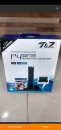 Suporte Base Vertical Cooler e Carregador Ps4 Pro Slim Fat