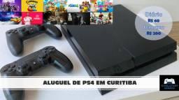Aluguel de Playstation 4 (PS4) para uso residencial ou evento!