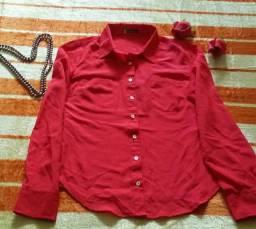 Camisa Vermelha Social