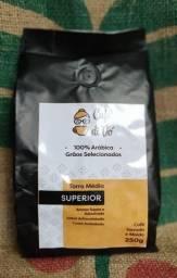 Café Superior 250g 100% Arábica [Moído ou em Grãos]
