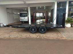Reboque aberto para transporte de carga - PBT 2.500 kg - NOVO