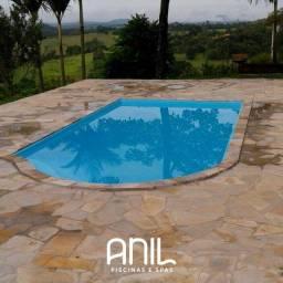 Título do anúncio: JA Piscina 6 metros , piscina de fibra Anil Piscinas
