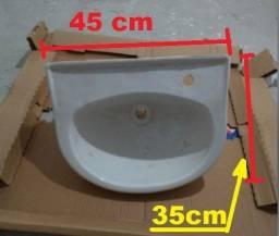 Pia de lavatório para banheiro 35cm com cifão