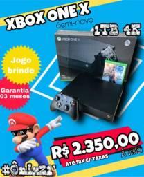 #Ônix21 - Microsoft Xbox One X 1TB 4K + Jogos