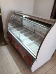 Balcão expositor de carnes para açougue 2,00m