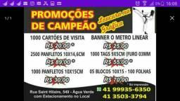 Cartão de visitas - Panfletos - Tags - Blocos - Adesivos - Banners