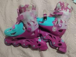 Roller Barbie 29 a 33 - bom estado