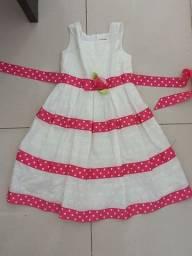 Vestido branco infantil 5/6  anos