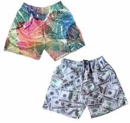 Kit 2 Shorts Moda Praia