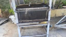 Título do anúncio: Vitrine de vidro, mesa de Inox, forno industrial, freezer ,caixa,saladeira,esteira