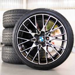 rodas 18 bmw m2 5x120 210 118 323 320 325 c/pneus 225x40 18