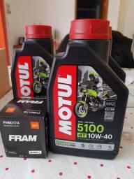 Kit Óleo MOTUL 5100 10w40 + filtro Fram