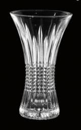 Vaso Cristal De Chumbo Queen 16x10x30cm