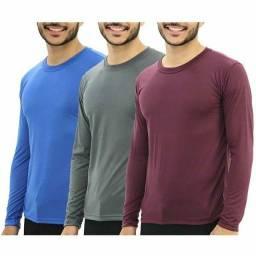 Camisa manga longa básica, malha fria