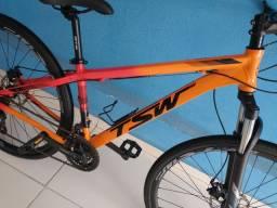 Bike aro 29 TSW vermelha e laranja