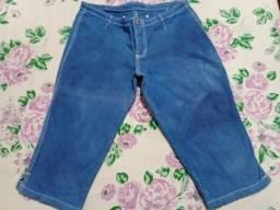 Título do anúncio: Bermuda/Short Jeans Tie Dye com elastano - Tamanho 40