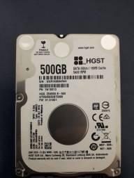 HD 500gb 5400 RPM para notebook