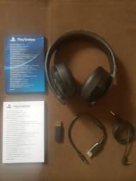Headset Wireless Gamer Sony Gold PS3 PS4 PC