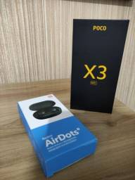 Xiaomi Poco X3 NFC 128G - Shadow Gray + Brinde