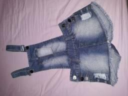 Jardineira / short saia