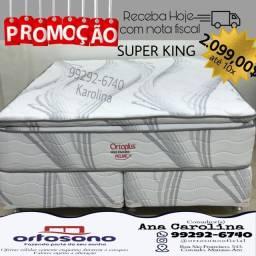 Cama Ortoplus Queen sizer, molas ensacadas c pillow top extra d-65 aglomerado