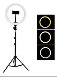 Ring Light Iluminador 10 Polegadas Com Tripé De 1,75 Cm