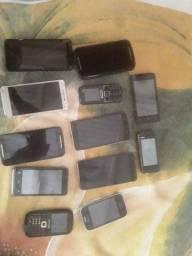 12 aparelhos celulares